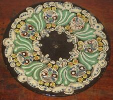 Old Thoune THUN Swiss art pottery plate GUFO COLORATO Folk Art Design