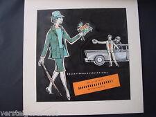 50er Jahre Werbung 2 Entwürfe Mode Kleidung Kinowerbung? Esslingen-Sulzgries