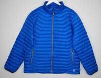Lands End Lightweight Puffer Jacket Blue Coat Women XL 46-48 Nylon Down Feathers
