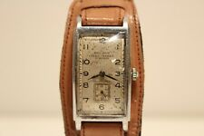 "VINTAGE RARE WW2 MILITARY RECTANGULAR MEN'S SWISS WATCH ""BISCHOFF"" AERO-ANKER"