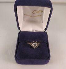 Bague coeur saphirs et diamants /  heart ring in 18 carat