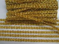 6 METER Gold Spitze 1cm breit Borte Elegant