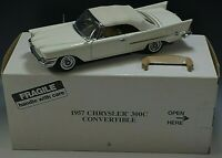 DANBURY MINT 1957 CHRYSLER 300C CONVERTIBLE MODEL CAR 1:24 SCALE DIE CAST MIB #3