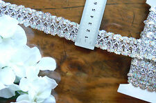 SEQUIN Braid Rayon Lace Edge SILVER 28mm wide 3 Metre Length Sunrise 1571