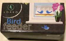 New listing Loako Bird Feeder, Window Bird Feeder, Clear Acrylic, Extra Large, New