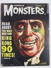 FAMOUS MONSTERS OF FILMLAND #20 (11/1962) FAIR w/Split Cover   Lon Chaney