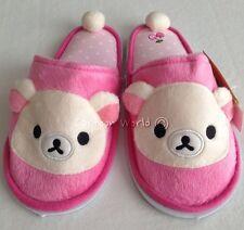 Women Adult Rilakkuma Plush Slippers Shoes Sandal US size 5-9, UK 3-7, EU 34-40