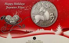 2012 CANADA SILVER $20 Happy Holidays, PURE .9999 COMMEMORATIVE COIN