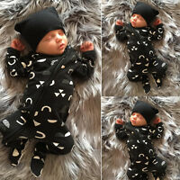 Bebé Recién Nacido Chicos Niños Ropa Cálido Mono Body Trajes Set 0-18M