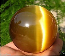 60MM + STAND Sell ASIAN QUARTZ TIGER EYE CRYSTAL HEALING BALL SPHERE +STAND