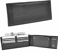 Golunski Quality Leather Cheque Book Cover & Card Holder - Black - 112