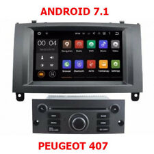 Autoradio Android 7.1 Navigation GPS, Bluetooth Peugeot 407 waze +
