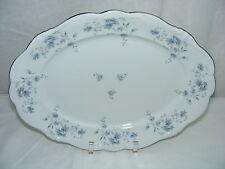 "Vintage Johann Haviland China Bavaria Germany Blue Garland 14"" Oval Meat Platter"