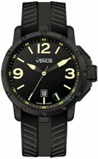 VENUS Chroma Mens Size Yellow Black Rubber Strap VE-1312A2-22Y-R2