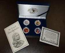 Beautiful Colorized All Seasons Sacagawea Collection in Box with COA