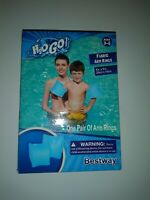 """BestWay H2O GO BLUE FABRIC ARM RINGS Floaty 8"""" x 6""""in 1 pair Age 3-6"""