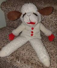 "Shari Lewis Stuffed Plush Lambchop Lamb Chop 1992 16"" Full Body Hand Puppet Euc"