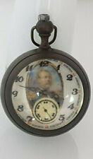 TASCHENUHR POCKET WATCH KUGELUHR Porträt Wilhelm I. PERFEKTE Fancy Dial