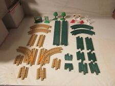 Fisher Price GeoTrax Road & Rail Track Straights Curves Signs Trees Lot 32 Pcs