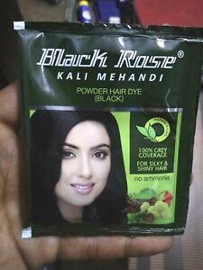 10 X Sachets Black Rose Kali Mehandi Black 10 gms each - 100g + Free Shipping