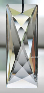 76mm Modern Rectangle Austrian Crystal Clear Prism SunCatcher 3""