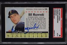 Bill Mazeroski Pirates HOF Autographed 1961 Post Cereal #128 Signed Card SGC