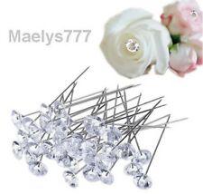 épingle diamant fleuriste 6,5mm décoration fleur bouquet  mariage lot 20 pcs