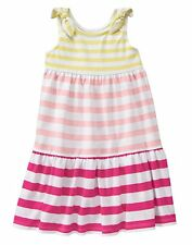 GYMBOREE Mix n Match Magenta Striped Cotton Midi Maxi Dress Girls Size 3 3T NWT