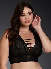 Torrid mesh & lace ladder bralett bra - black - NWT - size 4 - plus