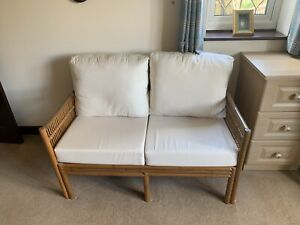 Cane wicker conservatory furniture - 1 x Sofa; 2 Chairs
