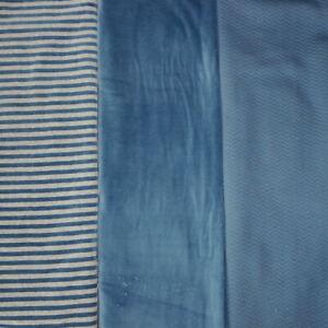 Nicki/Stepper Paket, blau/grau, Streifen, Uni, 3 x 0,8m