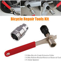 Bicycle Cycle Crank Extractor Puller Bottom Bracket Remover Wrench Repair Tools