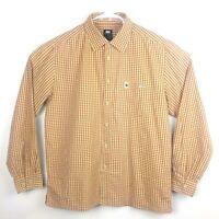 Men's Helly Hansen Long Sleeve Casual Shirt Copper & White Size L 100% Cotton
