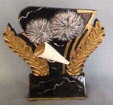 Cheerleading trophy resin gloss black award Wmr104