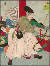Japanese Art: 36 Hair Raising Transformations: Dragon's Palace: Fine Art Print
