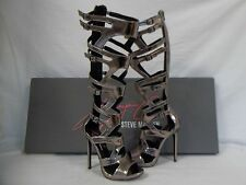 Keyshia Cole Steve Madden 8.5 M MAVEN Pewter Gladiator Heels New Womens Shoes