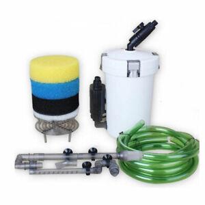 400L/H Aquarium Kasten Außenfilter Becken Pumpe mit Biochemische Filtermaterial