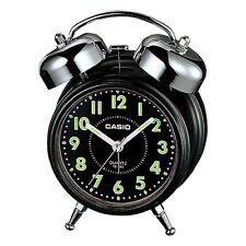 Casio Tq362-1A - Black/White Desk Top Bell Snooze Alarm Quartz Clock W/Battery