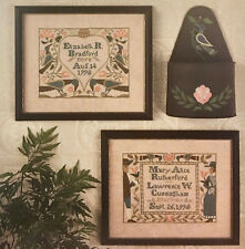Wedding Birth Samplers III Prairie Schooler Cross Stitch Pattern Original 67