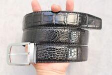 Unjointed - Black Genuine Alligator Crocodile Belt Skin Leather Men's