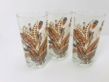 Lot Of 3 Georges Briard Vintage Fall Autumn Glasses