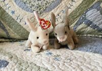 Nibbler And Nibbly Beanie Baby Bunny Rabbits.  MWMT