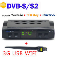 Freesat V7 HD DVB-S2 Mini Satellite TV Receiver 1080P USB support Powervu Youtub