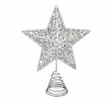 Gisela Graham White Christmas Star Tree Topper Feature - Christmas Tree Topper