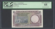 Nigeria 5 Shillings ND (1967) P6s Specimen Perforated About Uncirculated