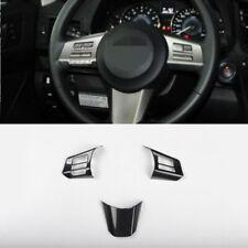 Carbon fiber Steering wheel button trim 3pcs For Subaru outback Legacy 2010-2014
