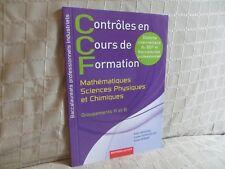 contrôles en cours de formation baccalauréat professionnel mathématiques