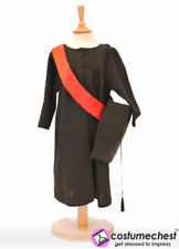 3 4 5  years Graduation Black Gown Costume For Boys and Girls