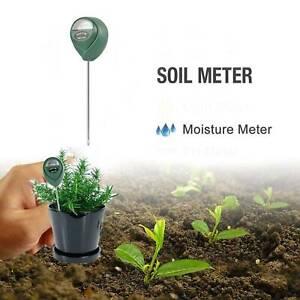 1x Soil Moisture Water Tester Meter Sun Test Kit Temp Sensor Garden Plant Flower