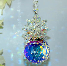 30mm Ab Pineapple Suncatcher Car Charm m/w Swarovski Crystal Octagons + Beads